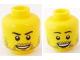 Part No: 3626bpb0593  Name: Minifigure, Head Dual Sided Beard Stubble, Smile / Open Smile Pattern - Blocked Open Stud