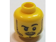Part No: 3626bpb0653  Name: Minifigure, Head Beard Stubble, Black Raised Right Eyebrow, White Pupils Pattern - Blocked Open Stud