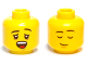 Part No: 3626bpb0659  Name: Minifigure, Head Dual Sided Black Eyebrows, Yawning / Asleep Pattern - Blocked Open Stud
