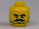 Part No: 3626bpb0666  Name: Minifigure, Head Beard Stubble, Moustache, Goatee, Bushy Eyebrows, Scars and Open Mouth Smile Pattern - Blocked Open Stud
