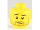 Part No: 3626bpb0684  Name: Minifigure, Head Beard Stubble, Wrinkles and Worried Look Pattern - Blocked Open Stud