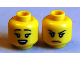 Part No: 3626bpb0697  Name: Minifigure, Head Dual Sided Female Black Eyebrows, Eyelashes, Open Mouth / Frown Pattern - Blocked Open Stud