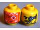 Part No: 3626bpb0698  Name: Minifigure, Head Dual Sided Beard Stubble, Orange Head-Up Display (HUD) / Helmet Scope Pattern - Blocked Open Stud