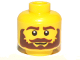 Part No: 3626bpb0777  Name: Minifigure, Head Beard Brown Bushy, Moustache, White Pupils Pattern - Blocked Open Stud