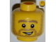 Part No: 3626bpb0848  Name: Minifigure, Head Beard Stubble, Thick Dark Tan Eyebrows and Open Grin Pattern - Blocked Open Stud