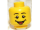 Part No: 3626bpb0910  Name: Minifigure, Head Male Black Eyebrows, Open Mouth Smile with Tongue Pattern - Blocked Open Stud