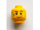 Part No: 3626bpb0913  Name: Minifigure, Head Beard Stubble, Brown Eyebrows and Paint Stains Pattern - Blocked Open Stud