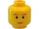 Part No: 3626bps2  Name: Minifigure, Head Male SW Brown Eyebrows and Chin Dimple Pattern - Blocked Open Stud