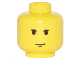 Part No: 3626bps3  Name: Minifigure, Head Male Small Black Eyebrows and Chin Dimple Pattern - Blocked Open Stud