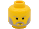 Part No: 3626bps4  Name: Minifigure, Head Beard with SW Gray Beard and Thin Gray Eyebrows Pattern - Blocked Open Stud