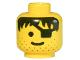Part No: 3626bpx119  Name: Minifigure, Head Male Eyepatch, Stubble, Black Hair Pattern - Blocked Open Stud