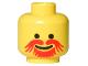 Part No: 3626bpx120  Name: Minifigure, Head Moustache Red Goatee Pattern - Blocked Open Stud
