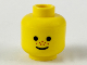 Part No: 3626bpx124  Name: Minifigure, Head Standard Grin and Red Nose Freckles Pattern - Blocked Open Stud