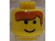 Part No: 3626bpx17  Name: Minifigure, Head Male Brown Bangs Pattern - Blocked Open Stud