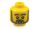 Part No: 3626bpx288  Name: Minifigure, Head Beard with Thick Gray Eyebrows, Angular Beard, Crooked Smile with Teeth, White Pupils Pattern - Blocked Open Stud