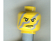 Part No: 3626bpx332  Name: Minifigure, Head Male Angry Eyebrows and Gray Camouflage Pattern - Blocked Open Stud