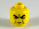 Part No: 3626bpx40  Name: Minifigure, Head Male Angry Eyebrows and 1 Red Eye Pattern - Blocked Open Stud