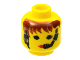 Part No: 3626bpx42  Name: Minifigure, Head Female with Red Lips and Headset Pattern - Blocked Open Stud
