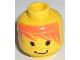 Part No: 3626bpx44  Name: Minifigure, Head Male Messy Orange Hair, Smile Pattern - Blocked Open Stud