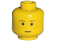 Part No: 3626bpx45  Name: Minifigure, Head Brown Eyebrows and Freckles Pattern - Blocked Open Stud