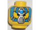 Part No: 3626bpx46  Name: Minifigure, Head Alien with Blue and Silver Mask Type 1 Pattern - Blocked Open Stud