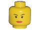 Part No: 3626bpx48  Name: Minifigure, Head Female with Red Lips Wide, Small Black Eyes, Thin Eyebrows Pattern (SW Padme) - Blocked Open Stud