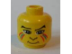 Part No: 3626bpx58  Name: Minifigure, Head Face Paint with Red and Blue Painted Lines, Eyebrows, Pupils, Nose Pattern - Blocked Open Stud