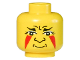 Part No: 3626bpx59  Name: Minifigure, Head Face Paint with Painted Triangles Pattern - Blocked Open Stud