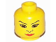 Part No: 3626bpx60  Name: Minifigure, Head Female with Nose, Red Lips, and Large Eyes Pattern - Blocked Open Stud