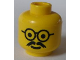 Part No: 3626bpx66  Name: Minifigure, Head Glasses with Moustache Pattern - Blocked Open Stud