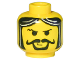 Part No: 3626bpx68  Name: Minifigure, Head Moustache Curly, Gray Streaks in Hair Pattern - Blocked Open Stud