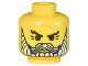Part No: 3626bpx71  Name: Minifigure, Head Beard with White Beard and Moustache, Crow's Feet Pattern - Blocked Open Stud