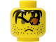Part No: 3626bpx72  Name: Minifigure, Head Male Eyepatch, Frown, Stubble and Gray Eye Pattern - Blocked Open Stud