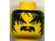 Part No: 3626bpx73  Name: Minifigure, Head Moustache Gray Eyes, Frown Pattern - Blocked Open Stud