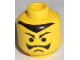 Part No: 3626bpx74  Name: Minifigure, Head Moustache Frown and Pointed Eyebrows and Hairline Pattern - Blocked Open Stud