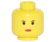 Part No: 3626bpx83  Name: Minifigure, Head Female with Red Lips, Small Eyebrows Pattern - Blocked Open Stud
