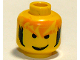 Part No: 3626bpx90  Name: Minifigure, Head Male Messy Orange Hair and Black Sideburns Pattern - Blocked Open Stud
