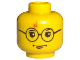 Part No: 3626bpx94  Name: Minifigure, Head Glasses with Lightning Bolt on Forehead Pattern (HP Harry) - Blocked Open Stud