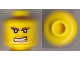 Part No: 3626cpb0312  Name: Minifigure, Head Beard Stubble, Brown Eyebrows, Bared Teeth, White Pupils Pattern - Hollow Stud