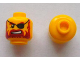 Part No: 3626cpb0323  Name: Minifigure, Head Beard Red-Brown, Sneer, Eyepatch Pattern - Hollow Stud