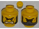 Part No: 3626cpb0444  Name: Minifigure, Head Dual Sided Male with Unibrow, Sideburns, Bared Teeth / Balaclava Pattern - Hollow Stud