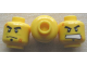 Part No: 3626cpb0445  Name: Minifigure, Head Dual Sided Male with Red Scars, Scowl / Determined Pattern - Hollow Stud