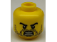 Part No: 3626cpb0603  Name: Minifigure, Head Beard Stubble, Black Angry Eyebrows with Open Mouth with Teeth Pattern - Hollow Stud