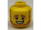 Part No: 3626cpb0676  Name: Minifigure, Head Beard Brown, Bushy Eyebrows, White Pupils and Pensive Smile with Teeth Pattern - Hollow Stud