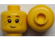 Part No: 3626cpb0690  Name: Minifigure, Head Black Eyelashes, Brown Eyebrows, Freckles Pattern - Hollow Stud