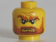Part No: 3626cpb0764  Name: Minifigure, Head Beard Dark Orange, Bushy Eyebrows, Wrinkles Pattern (Jack McHammer) - Hollow Stud