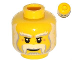 Part No: 3626cpb1004  Name: Minifigure, Head Beard Gray and White Full, Thick Moustache and Eyebrows Pattern - Hollow Stud