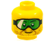 Part No: 3626cpb1116  Name: Minifigure, Head Glasses with Green Goggles and Brown Stubble Pattern - Hollow Stud