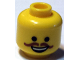 Part No: 3626cpb1125  Name: Minifigure, Head Black Eyes, Open Mouth Smile and Curly Brown Moustache Pattern (Western Emmet) - Hollow Stud