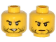 Part No: 3626cpb1150  Name: Minifigure, Head Dual Sided Beard Stubble, Black Eyebrows, Determined, Open Mouth / Mouth Closed, Scar on Right Eyebrow Pattern - Hollow Stud